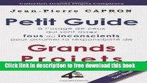 [Download] Petit Guide des Grands Projets (à l Usage de ceux qui sont assez Fous ou Inconscients