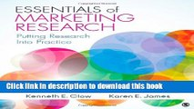 [Read PDF] Essentials of Marketing Research: Putting Research Into Practice Download Free