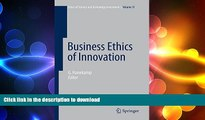 FAVORIT BOOK Business Ethics of Innovation (Ethics of Science and Technology Assessment) READ EBOOK