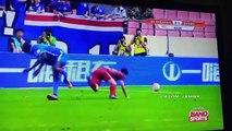 Demba Ba Horrific Leg Break vs Shanghai Sipg 17⁄07⁄2016    demba ba horrific injury breaks leg