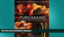 READ ONLINE Purchasing: Selection and Procurement for the Hospitality Industry, 5th Edition READ