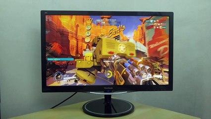 Viewsonic VX2457-mhd Monitor Screen demo 120FPS Capture