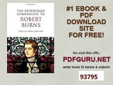 The Edinburgh Companion to Robert Burns Edinburgh Companions to Scottish Literature