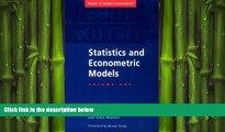 FREE PDF  Statistics and Econometric Models: Volume 1, General Concepts, Estimation, Prediction