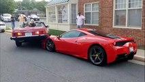 Cette femme va reculer sur une Ferrari 458 et l'éclater.. Femme au volant...