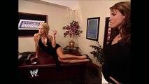 Stephanie McMahon & Vince McMahon & Sable Backstage SmackDown 06.05.2003 (HD)