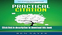 Ebook Practical Citation: A Guide to Simply and Safely Recording (Genealogy) Sources and Citations