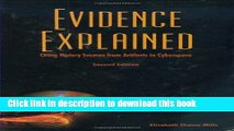Books Evidence Explained: Citing History Sources from Artifacts to Cyberspace Full Online