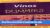 Download  Vino Para Dummies/wine For Dummies (Spanish Edition)  Free Books