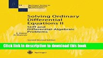 Download Solving Ordinary Differential Equations II: Stiff and Differential-Algebraic Problems