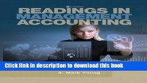PDF  Readings in Management Accounting (6th Edition)  Free Books
