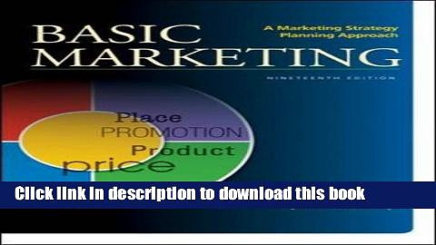 [Read PDF] BASIC MARKETING: A Marketing Strategy Planning Approach Ebook Online