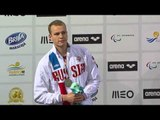 Men's 400m Freestyle S10 | Medals Ceremony | 2016 IPC Swimming European Open Championships Funchal