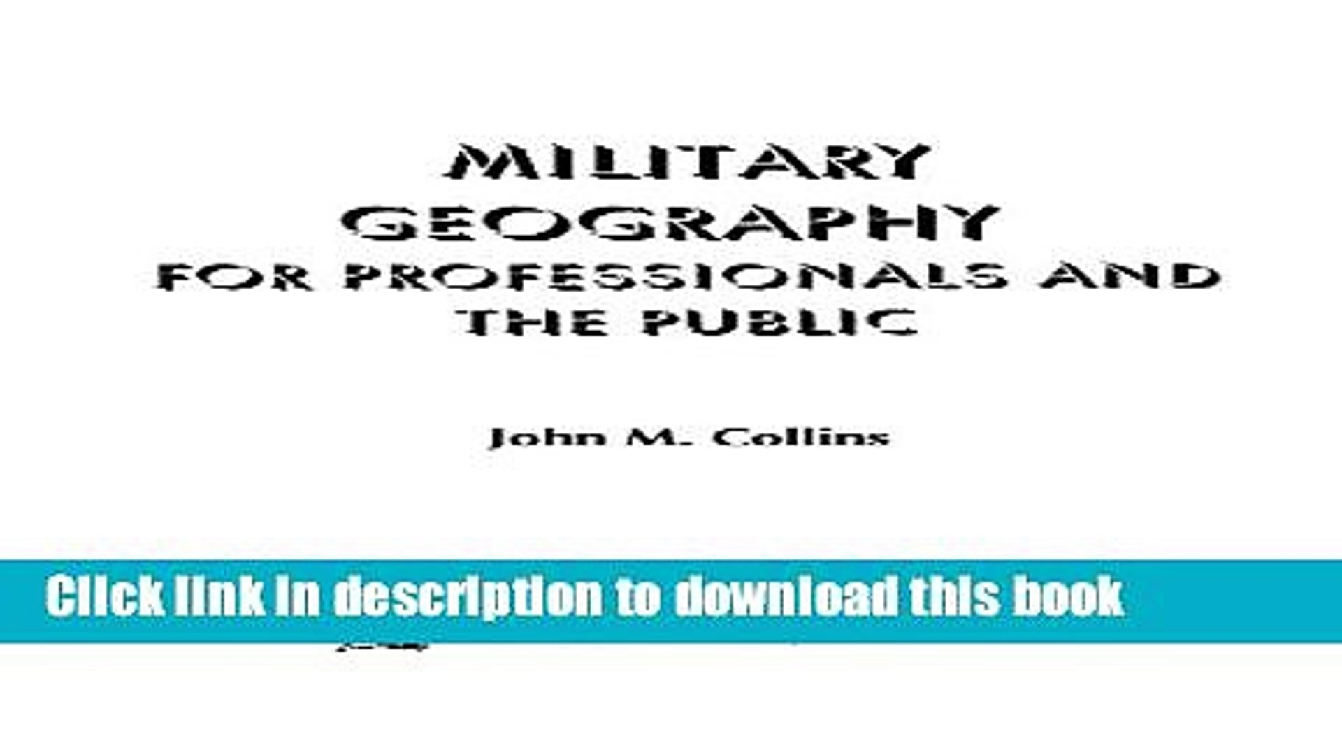 [PDF] Military Geography: For Professionals and the Public (Association of the United States Army