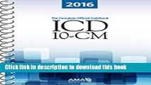 [Popular Books] ICD-10-CM 2016: The Complete Official Draft Code Set (Icd-10-Cm the Complete