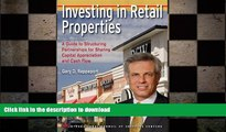 FAVORIT BOOK Investing in Retail Properties a Guide to Structuring Partnerships for Sharing