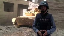 "In Syria, near the reporter , "" Al - Jazeera "" tank exploded in the air"