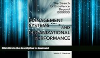 FAVORIT BOOK Management Systems and Organizational Performance: The Search for Excellence Beyond