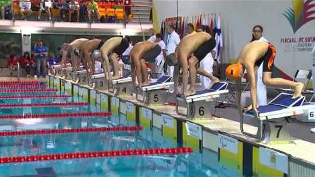 Men's 100m Butterfly S13 (S11-S13) | Heat 1 | 2016 IPC Swimming European Open Championships Funchal