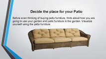 Tips to Buy Patio Furniture - Wicker Paradise