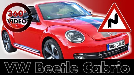 360° Drive VW Beetle Cabrio on Mountain Road in France Test VR Driving 360 degrees