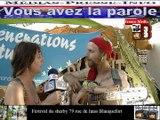 Télévision-Bordeaux-33 rencontre avec Génération Future au Féstival de Blanqudoret