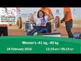 Women's -41 kg, -45 kg | 2016 IPC Powerlifting World Cup Kuala Lumpur