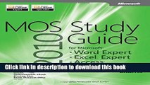 [Popular] Book MOS 2010 Study Guide for Microsoft Word Expert, Excel Expert, Access, and