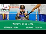Women's -67 kg, -73 kg | 2016 IPC Powerlifting World Cup Kuala Lumpur