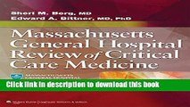 Download Massachusetts General Hospital Review of Critical Care Medicine Book Online