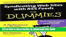 [Popular Books] Syndicating Web Sites with RSS Feeds For Dummies Free Online