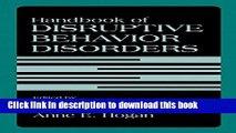 [PDF] Handbook of Disruptive Behavior Disorders Full Online