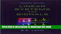 [Popular] Book Linear Systems and Signals Free Online