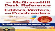 [Reading] The McGraw-Hill Desk Reference for Editors, Writers, and Proofreaders (with CD-ROM) New