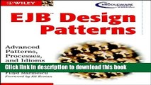 [Popular Books] Ejb Design Patterns: Advanced Patterns, Processes, and Idioms with Poster Free