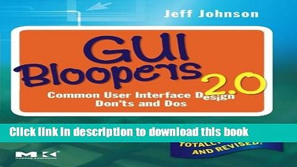 [Popular Books] GUI Bloopers 2 0: Common User Interface Design Don ts and  Dos Free Download