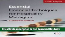 [Full] Essential Financial Techniques for Hospitality Managers: A Practical Manual Free New