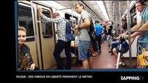 Russie: Des voyageurs insolites prennent le métro avec leurs hiboux en liberté ! (Vidéo)