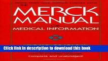 [Popular Books] The Merck Manual of Medical Information (Merck Manual Home Health Handbook