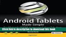 [Popular Books] Android Tablets Made Simple: For Motorola XOOM, Samsung Galaxy Tab, Asus, Toshiba