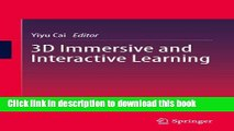 [Popular Books] 3D Immersive and Interactive Learning Full Online