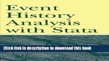 [Popular Books] Event History Analysis With Stata Free Online