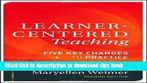 [Fresh] Learner-Centered Teaching: Five Key Changes to Practice New Books