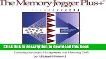 [Popular] Books The Memory Jogger Plus + Featuring the Seven Management and Planning Tools Free