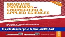 [Popular Books] Graduate Programs in Engineering   Applied Sciences (Peterson s Graduate Programs