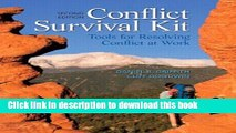 [Popular] Books Conflict Survival Kit: Tools for Resolving Conflict at Work (2nd Edition) Free