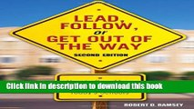 Ebooks Lead, Follow, or Get Out of the Way: How to Be a More Effective Leader in Today s Schools