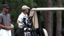 Stephen Curry et Barack Obama font un golf ensemble