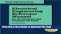 [Fresh] Electrical Engineering Reference Manual, for the Electrical and Computer PE Exam, 7th ed.