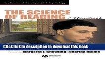 Books The Science of Reading: A Handbook (Wiley Blackwell Handbooks of Developmental Psychology)